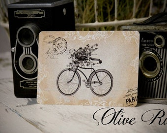 Vintage Inspired Postcard with French Graphics