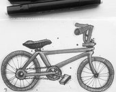 BMX. An original drawing of this iconic bike, by Andrea Joseph