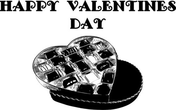 """heart box of chocolates Valentines Day clip art png clipart Digital image download graphics love digital stamp printable art 10.3"""" x 16.7"""""""