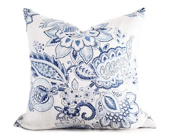 Blue white pillow Etsy