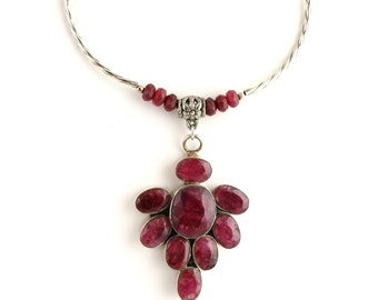Ruby Necklace Set. Listing 261066361