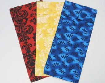 Washable Cotton Cover for your eye pillow - Choose color and size