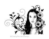 Spring goddess - CLiNG RuBBer STAMP for acrylic block by Cherry Pie Art Stamps