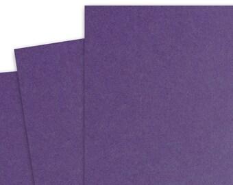 Basis DARK PURPLE 80lb Card Stock 8.5x11 - 25 sheets
