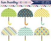 60% OFF SALE Umbrellas Clipart Graphics Digital Baby or Bridal Shower Clip Art Personal & Commercial Use Instant Download