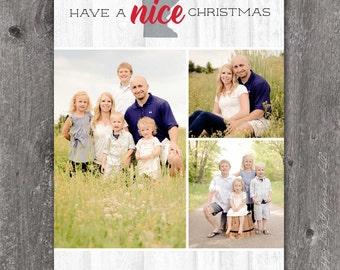 MN Nice - DIGITAL Custom Christmas Holiday Photo Card