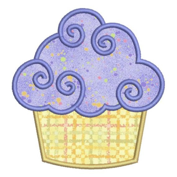 Sale off applique birthday cupcake ii by