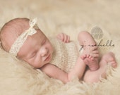 Newborn Knit Handmade Onesie Romper Made to Order