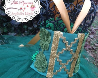 Merida or Pirate Fairy Inspired Tutu Dress - Merida Costume - Merida Dress