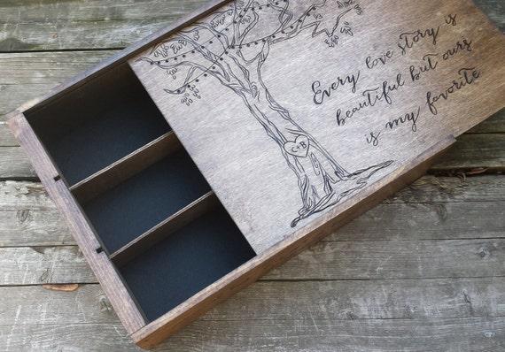 Wooden Wine Box Wedding Gift : bottle wine box, wooden wine box, wooden wine crate, wedding wine box ...