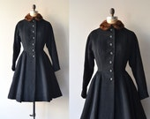 Ebberlund coat | vintage 1940s wool coat | 40s princess coat