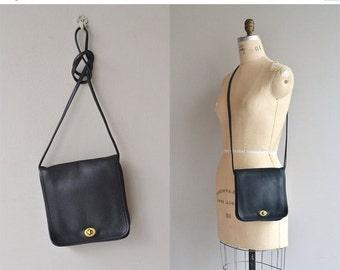 25% OFF.... Coach 'Companion' bag | vintage Coach bag | black leather saddle bag