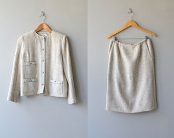Chanel suit | vintage boucle jacket and skirt | vintage Chanel jacket