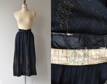 Rosa Hazen wool beaded skirt | vintage Edwardian skirt | beaded 20s skirt