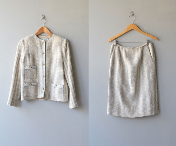 Chanel suit | vintage boucle jacket and skirt