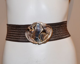 SALE......Vintage Brown with Two Birds Belt