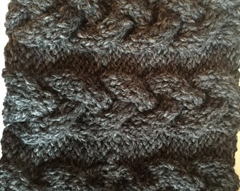 Women's Cable Cowl Scarf Handmade Knit ANY COLOR Made to Order