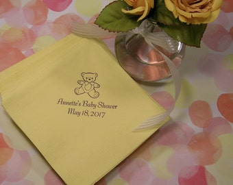 Perfect Baby Shower Napkins Personalized Baby Shower Napkins Set Of 50 Napkins  Personalized Baby Shower Napkins Beverage
