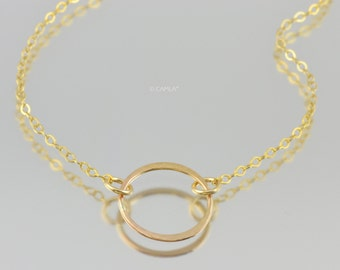 Gold Circle of Life Necklace