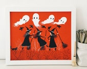 Merry Witches Art Print