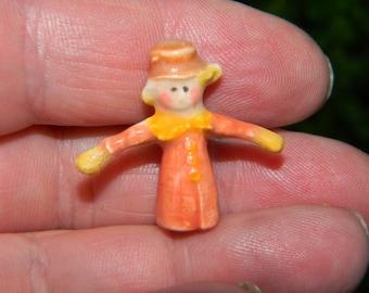Scarecrow  miniature statue   ceramic animal miniature terrarium  Fall Thanksgiving decor Micro Tiny