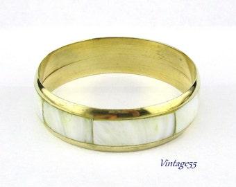 Bracelet Brass Mop Inlay India
