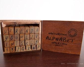 Vintage Wooden stamp set (Handwriting)