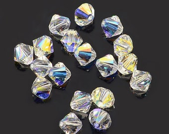 Swarovski Bicone Bead - 6mm - Crystal AB - Sold in sets of 12