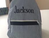 Seersucker Toddler Backpack