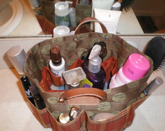 Purse Organizer/ Bathroom basket Organizer organizer bag /diaper bag multi color