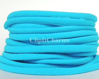 Wholesale .39+Neon Blue Stretch Nylon Chokers...Use for bottle cap jewelry,pendants,charms, headbands/doubles as a bracelet or anklet....