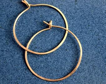 Minimalist Gold Fill Wire Hoop Earrings , Hoop Earrings, Minimal Hoop Earrings, Minimalist earrings, Gold Hoop Earrings, Wire Earrings
