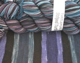 Twilight - MCN base - Hand-dyed Self-striping sock yarn