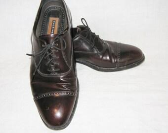 FLORSHEIM Mens Shoes 12 D Dark Brown Leather
