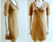 Organic cotton fleece dress, handmade clothing, fleece tunic dress, custom made dress