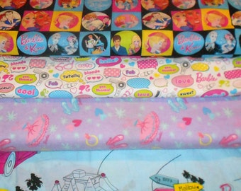 BARBIE #1 Fabrics, Sold INDIVIDUALLY not as a group, by the Half Yard
