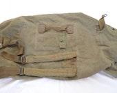 reserved for robert Vintage U.S. ARMY duffel bag VIETNAM War Era soldier stenciled 1974