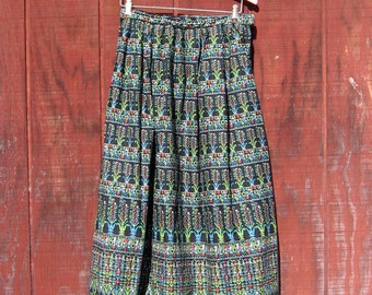 Mary Jo - vintage 50s atomic print skirt S M