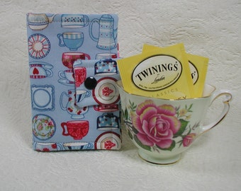 Tea Wallet ... Tea Time China in Blue