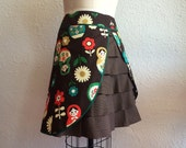 Reserved for Terri- Matryoshka ruffle bum skirt