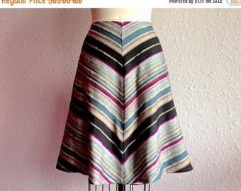 SALE Chantelle chevron striped silk skirt Sz 4