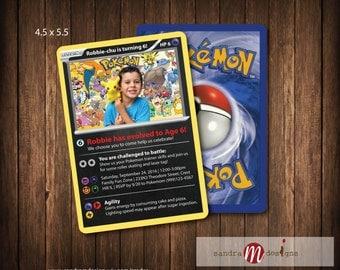Pokemon Card Inspired Birthday Party Printable