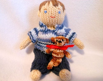 Mini Elf Knitting Pattern : Mini Dobby the House Elf Doll Hand Knitted with by KatesCache