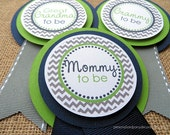 Chevron Baby Shower Decorations, Baby Shower Decorations, Baby Shower Décor, Chevron Baby Shower Mom To Be Pin, Choose The Colors
