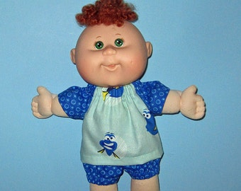 Cabbage Patch Newborn Surprise Teeny Tiny Preemies  Doll Clothes  Dory  Short Set 10 inch  Doll Clothes Girl
