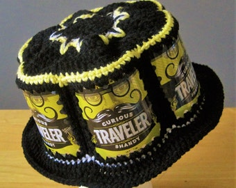 Crocheted Beer Can Hat - Curious Traveler Lemon Shandy