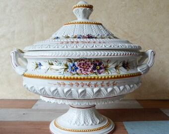 Ornate Pedestal Soup Tureen