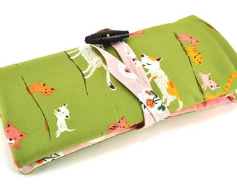 Double Pointed Knitting Needle Organizer - Dpn Case - Tiger Lily
