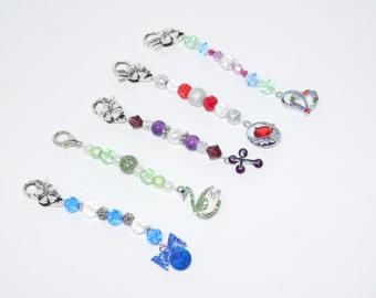Mini Scissor Fob, Cross Stitch Accessories, Swan Charm, Needlecraft gift,  Pendant Keyring, Bag Charm