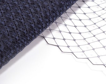 Veil Fabric, Veiling for Hats and Birdcage Veils Navy - Wholesale Available
